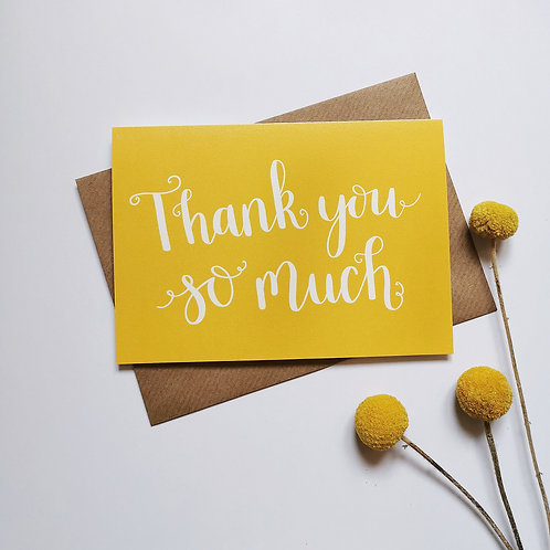Thank You So Much Card Multipack (Pack of 6)