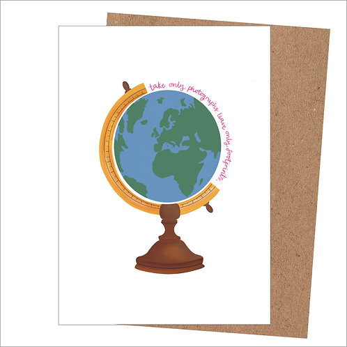 Take Photographs Leave Footprints Card (Pack of 6)