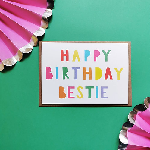 Best Friend Birthday Card (Pack of 6)