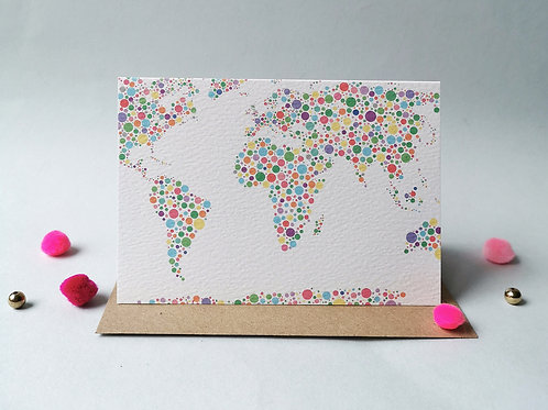 World Map Card (Pack 6)