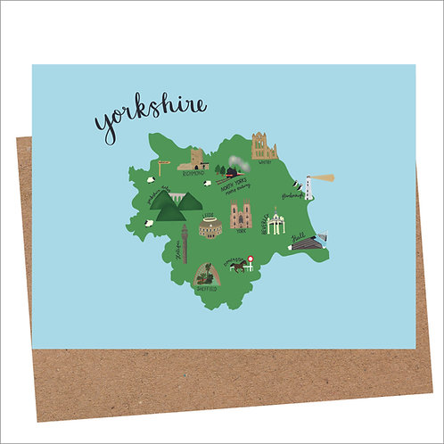 Yorkshire Map Card