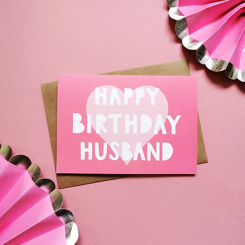 Husband Birthday Card (Pack of 6)