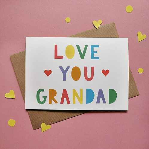 Love You Grandad Card