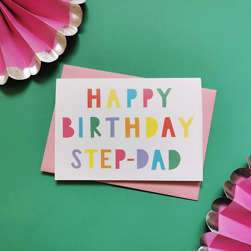Step-Dad Birthday Card (Pack of 6)