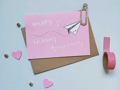 First Wedding Anniversary Card (Pack 6)
