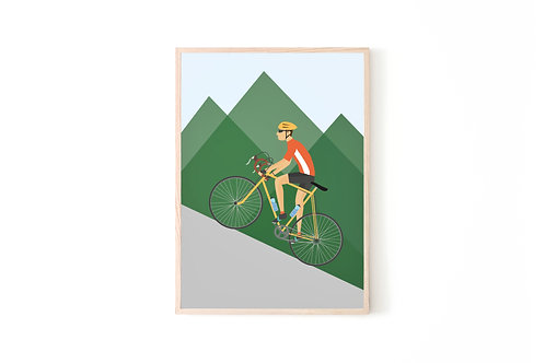Cycling Print For Him