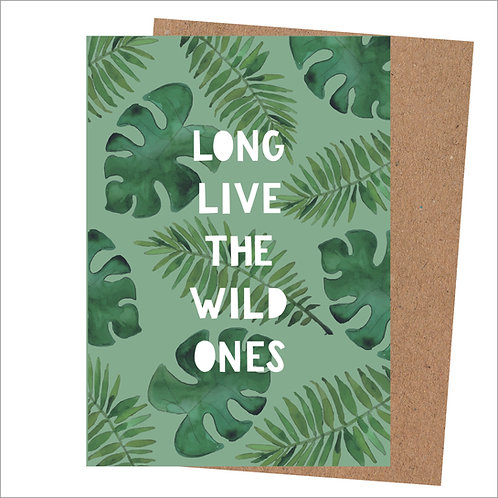 Long Live The Wild Ones Card (Pack 6)