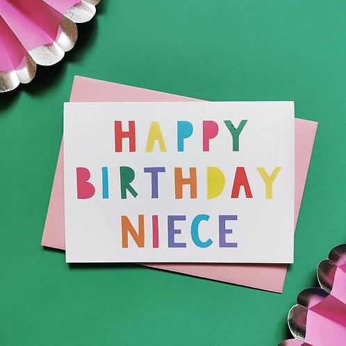 Niece Birthday Card (Pack of 6)