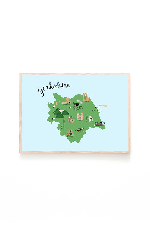 Yorkshire Map Print
