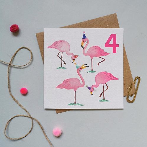 Fourth Birthday Card (Pack 6)