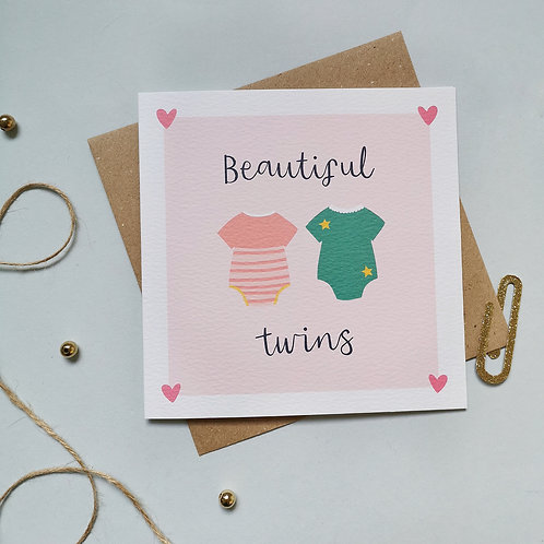 Beautiful Twins Card