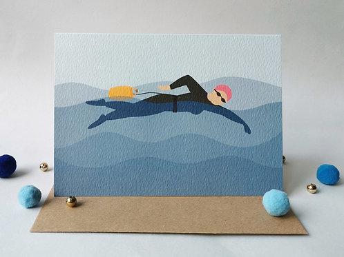 Swimming Female Card (Pack 6)