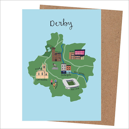 Derby Map Card (Pack 6)