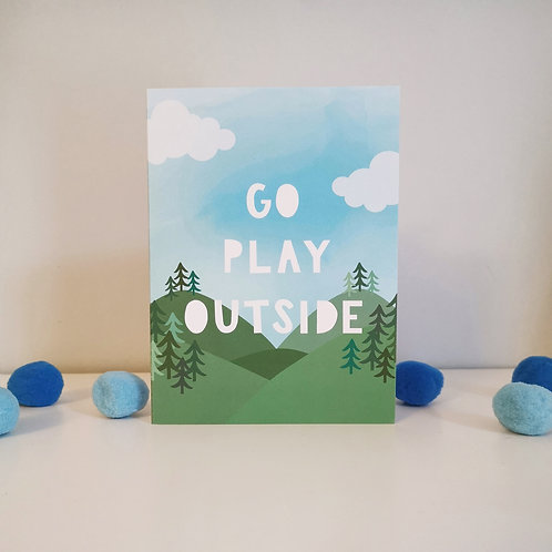 Go Play Outside Card (Pack 6)
