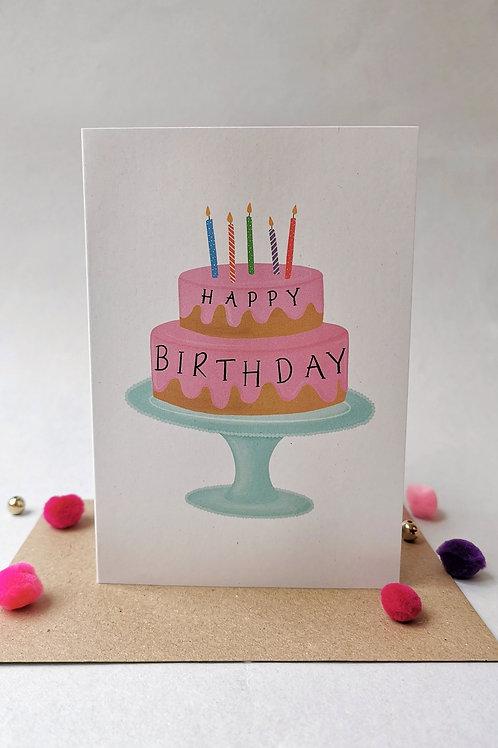 Birthday Cake Card (Pack 6)