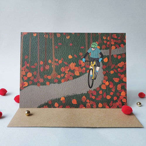 Mountain Bike Card (Pack 6)