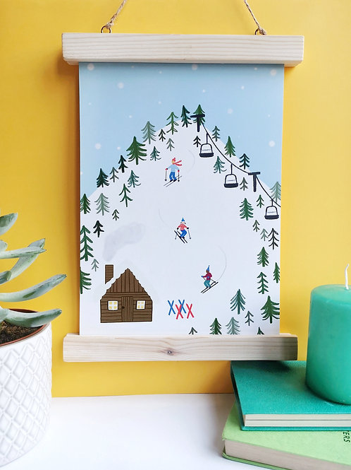 Skiing Print