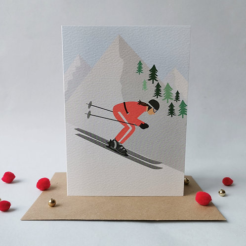 Ski Female Card (Pack 6)