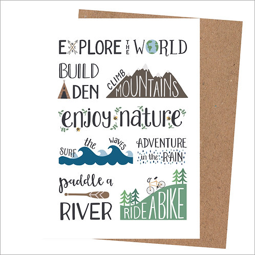 Explore The World Card (Pack 6)