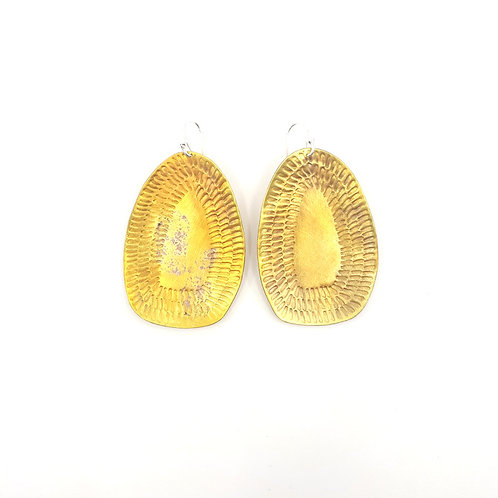 Golden sunshine drop earrings (large)