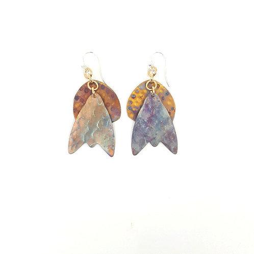 Ghost moth with 3/4 moon earrings