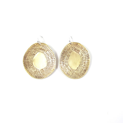 Golden sunshine drop earrings