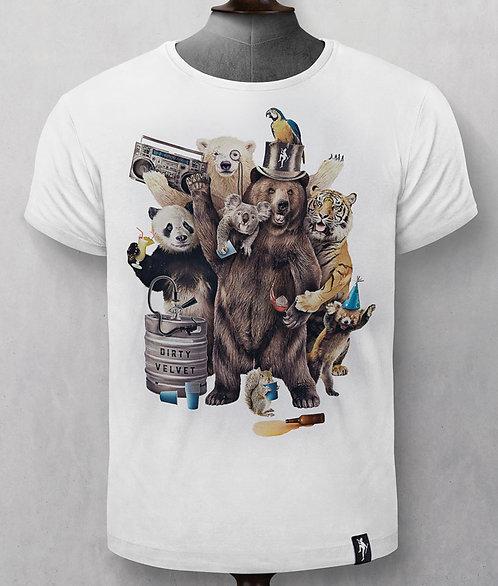 T-Shirt - Dirty Velvet - Blanc animaux