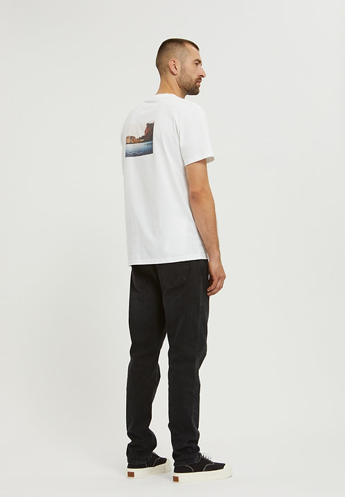 T-shirt - Armedangels - Blanc, motif