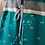 Thumbnail: Robe - Bleu Tango - Émeraude motif ruche