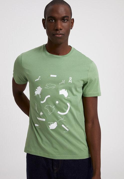 """T-shirt - Armedangels - Vert """" Map"""""""
