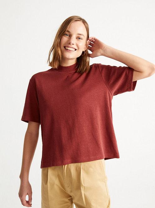 T-shirt chanvre - Thinking Mu - Rouge/Kaki