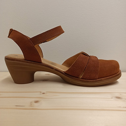 Sandales à talons – El Naturalista  – Caramel/Noir