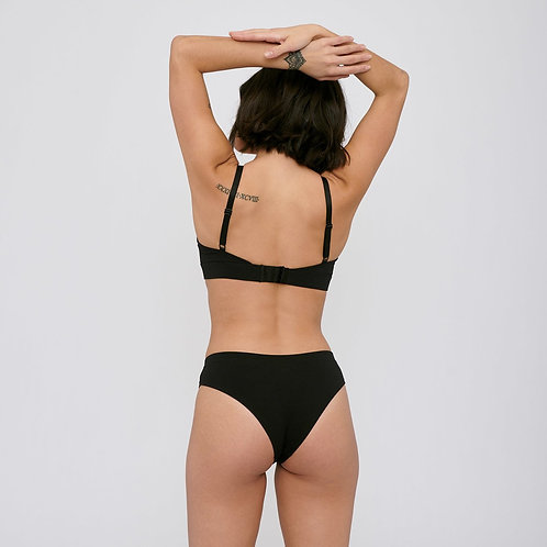 Culottes Hipster coton - Organic Basics - Noir/Beige