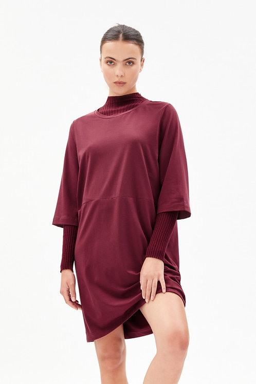 Robe t-shirt - Armedangels - Rouge