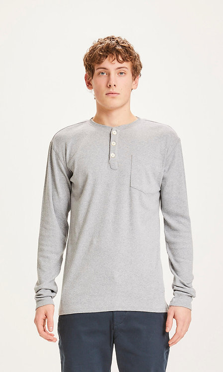T-shirt manches longues - Knowledge - Gris /Marine