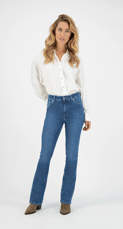 Jeans Flared Hazen - Mud Jeans - Authentic Indigo