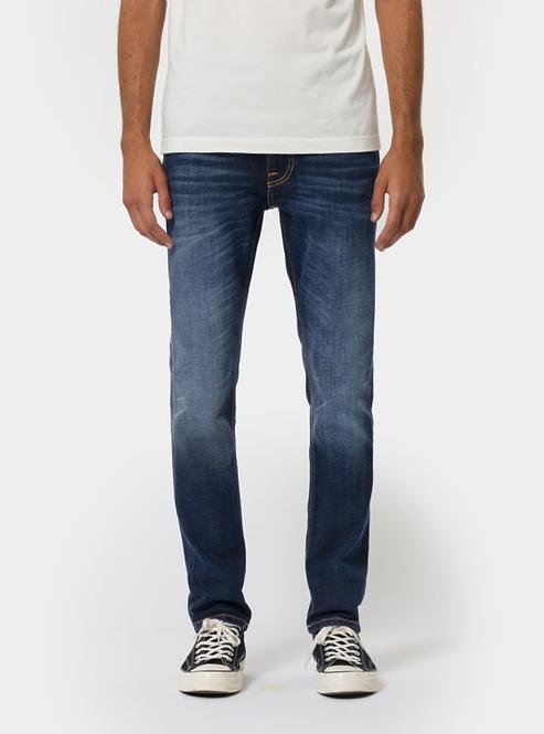 Jeans Lean Dean - Nudie Jeans - Dark Deep Worn