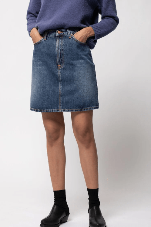 Jupe en jeans - Nudie Jeans - Bleu jeans