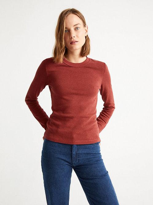 T-shirt chanvre - Thinking Mu - Rouge/Kaki/Noir