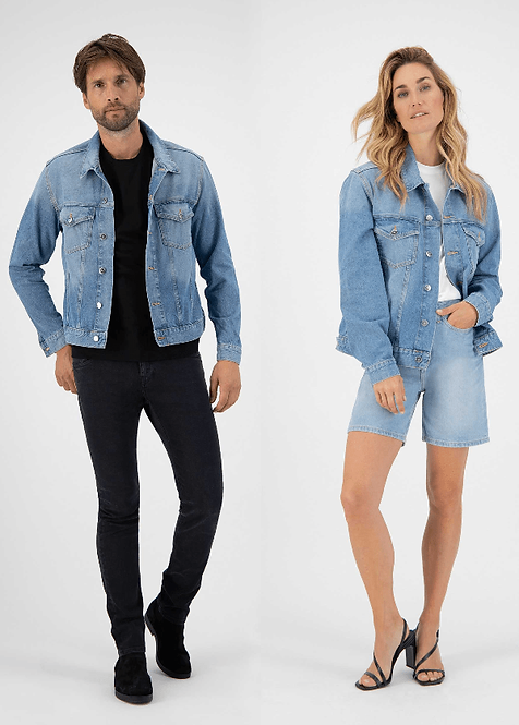Veste Jeans - mixte - Mud jeans - Heavy Stone