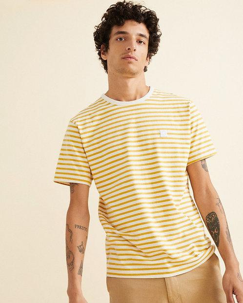 T-shirt - Thinking Mu - Rayure Jaune