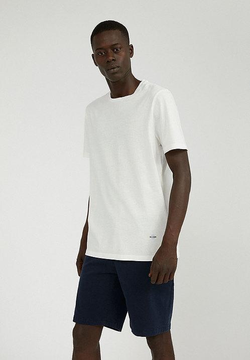 T-shirt recyclé - Armedangels - Blanc/Orange