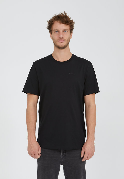 "T-shirt  - Armedangels - Noir/Blanc ""I Care"""