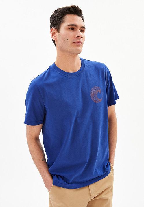 "T-shirt  - Armedangels - Bleu ""Save our ocean"""