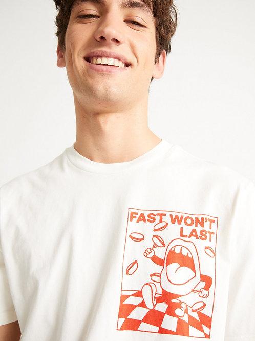 T-shirt - Thinking Mu - Fast Won't Last