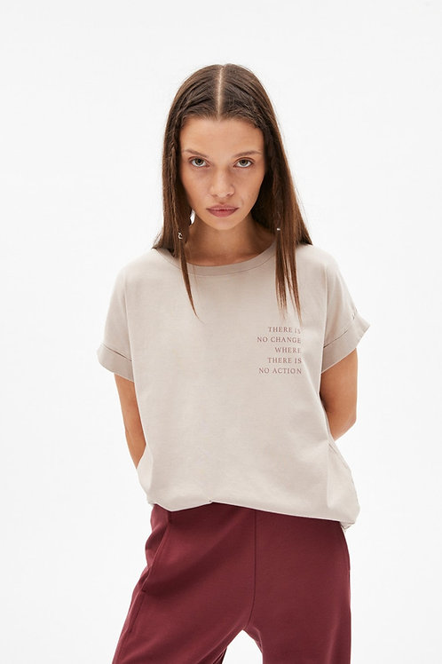 T-shirt - Armedangels - Beige