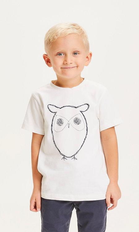 T-shirt mixte - Knowledge - Orange/Blanc