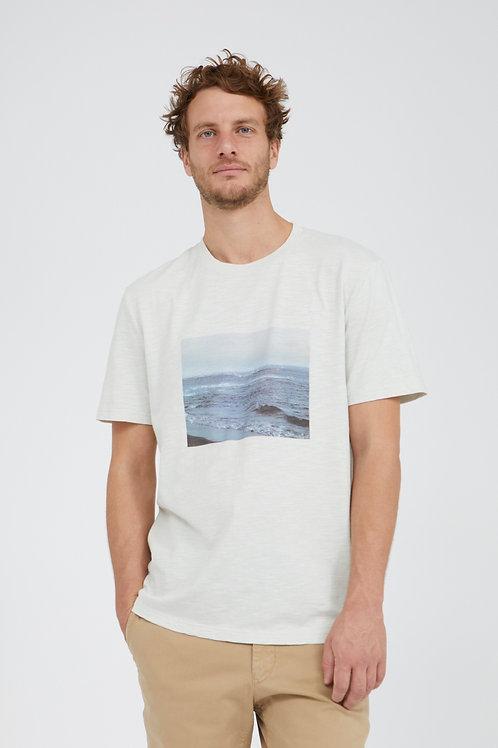 T-shirt – Armedangels – Blanc « Mer »