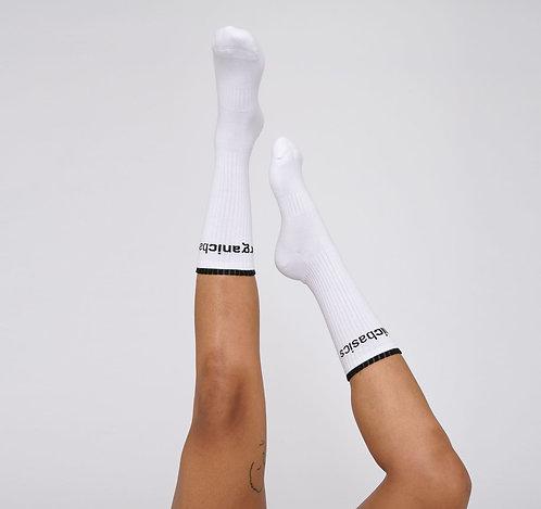 Chaussettes mixte - Organic Basics - Noir/Blanc