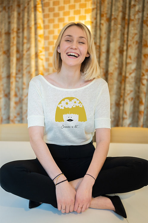 T-shirt - Jeanne à dit - Flower Ecru